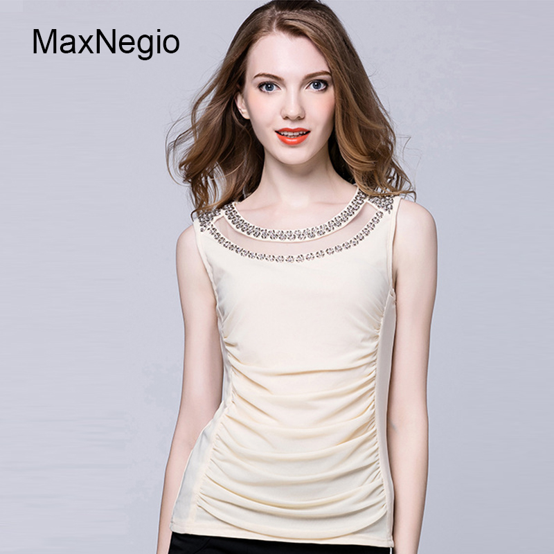 Maxnegio Women White Party Ruffle Front Blouse Ladies Lace Tops Latest Design