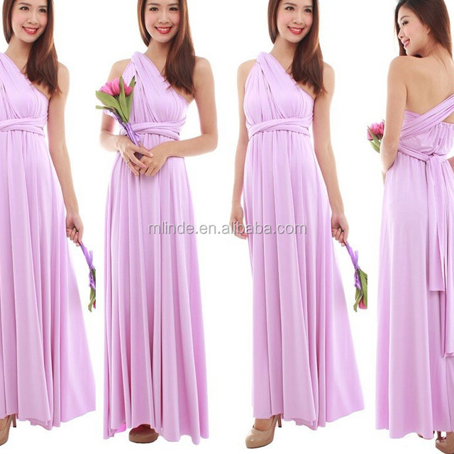 long maxi Convertible bridesmaid dress designs for adult,women fashion muti wear convertible dress wrap convertible dress