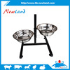 Newland stainless steel dog pet drinking feeding bowl with adjustable sheet