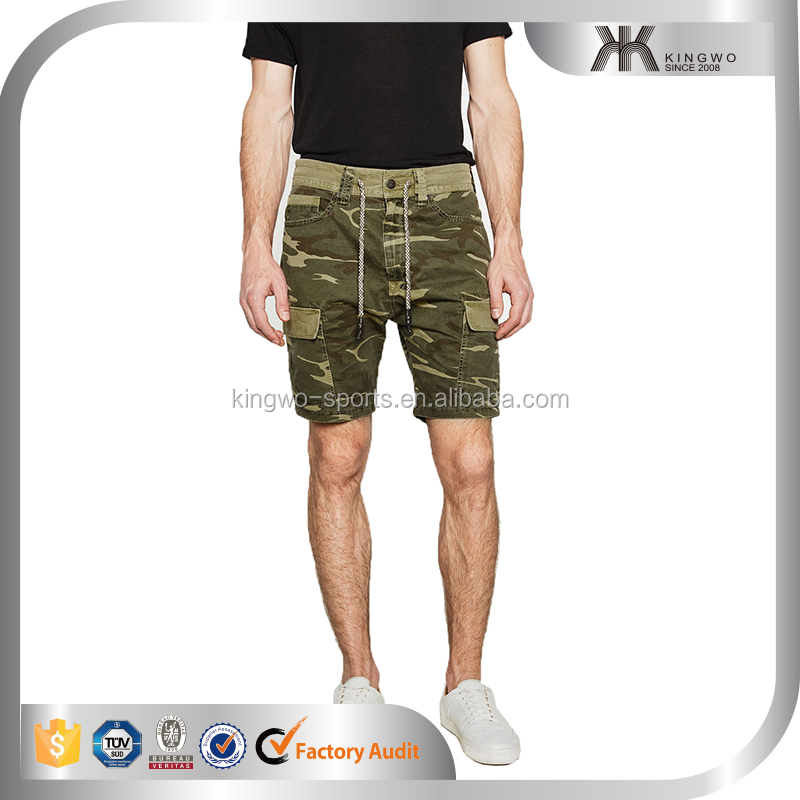 high quality mens camo shorts, cargo bermuda pants for man, printing knee length pants