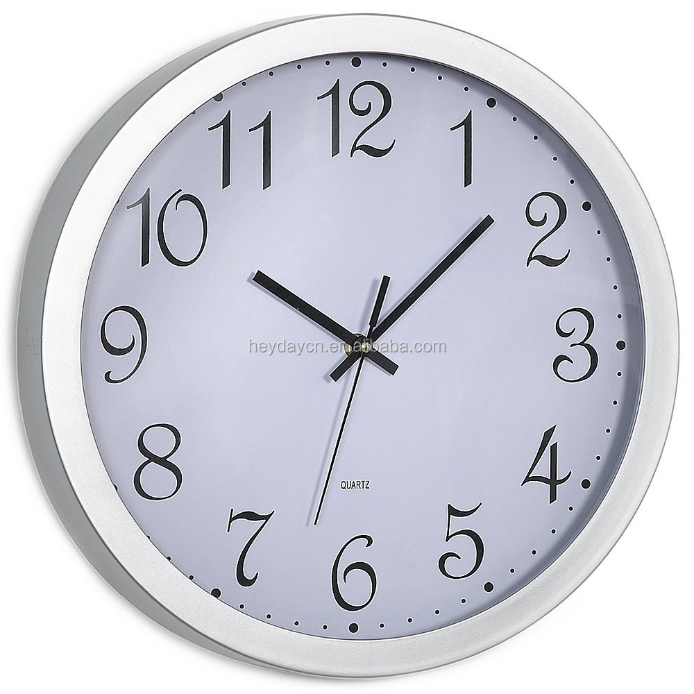 stainless steel DCF RC wall clock(HD-2530)