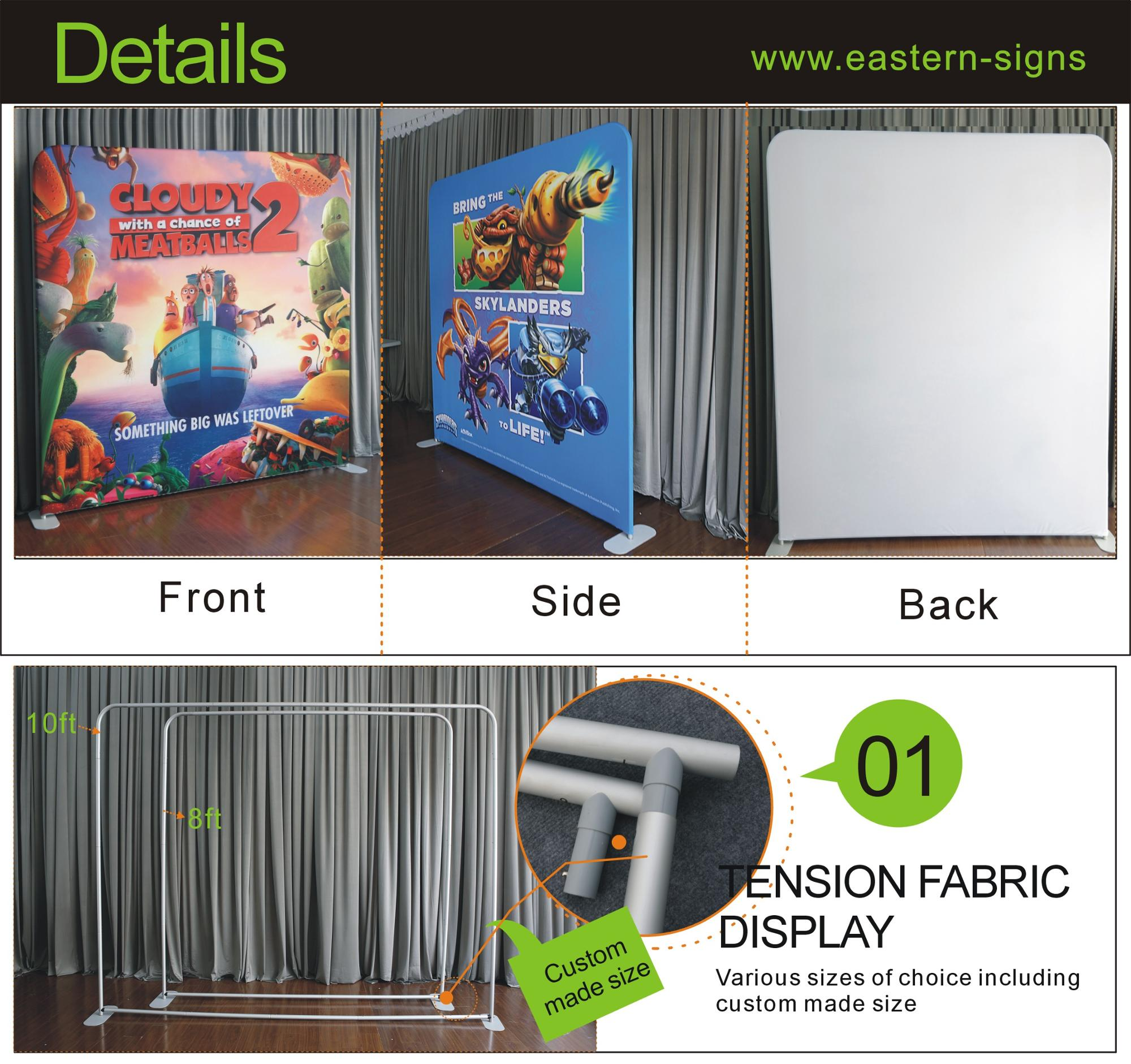 10ft Aluminum Stand with Pillow Case Fabric Banner