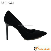 A120-A1 black suede shoes sexy shoes china wholesale handmade women shoes
