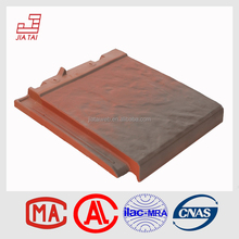 wind-proof decorative glazed flat clay roof tile