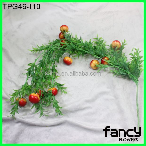 12 heads decorative artificial tomatoes for home decoration