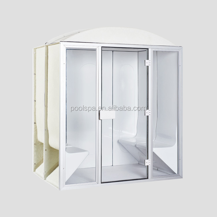 Portable 6 person outdoor dry sauna wet steam shower room for spa center
