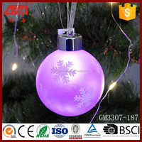 clear outdoor light up christmas ball for hanging christmas holiday