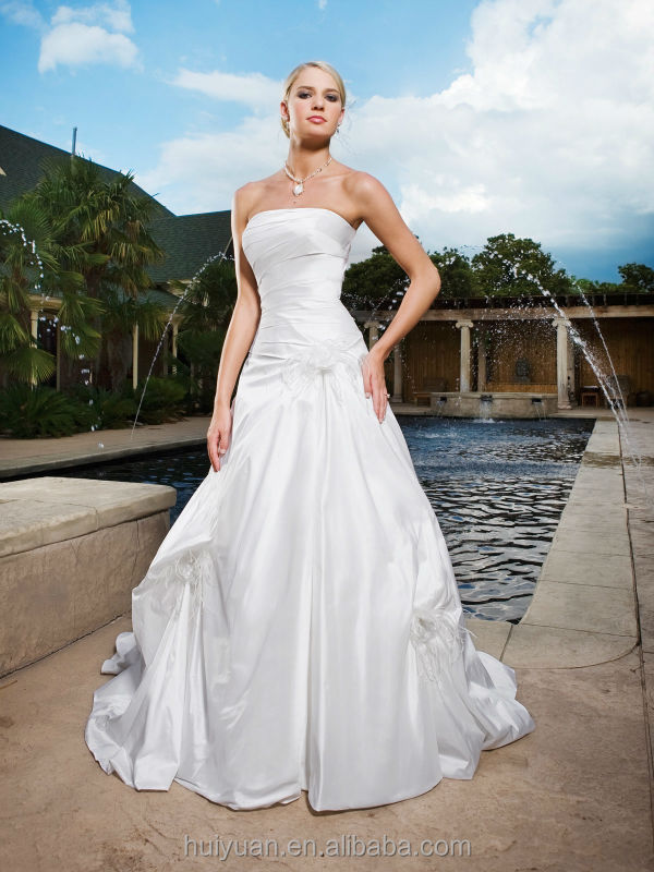 newest designer scoop neck elegant sleeveless shanghai wedding dress