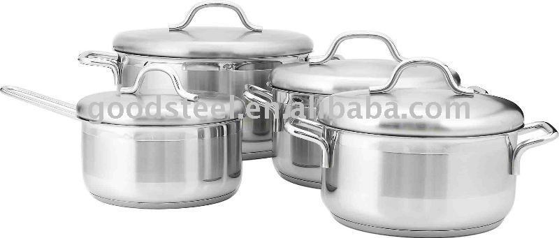 MSF 8 pcs classical thermometer stainless steel cookware set with stainless steel cover