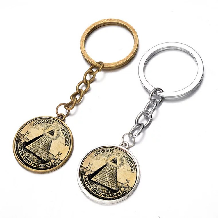 Make your own logo hight quality keychain copper keyring of Freemasons
