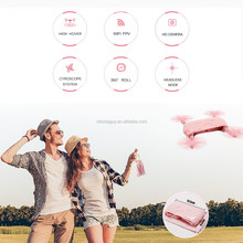 2017 latest and fashion cheap price pocket selfie mini jjrc h37 drone with hd camera