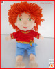 25cm lovely plush mini real doll with wool hairs