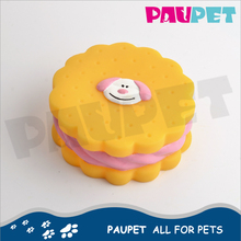 Factory directly design cute dog food biscuits dog vinyl food toy