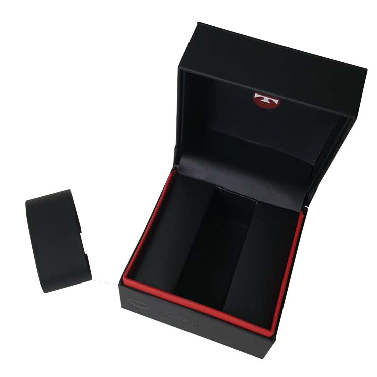 Professional OEM/ODM Watch Box Manufacturing Factory, Black Leather Watch Packaging Box.