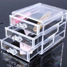 High quality customized transparent acrylic cosmetic storage box