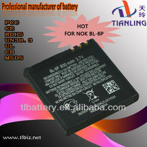 Bl-6p Battery For Nokia 6500c 7900p 6500 7900 Cell Phone Battery