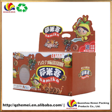 2016 Customized colorful printing snack food packaging box for whole sale