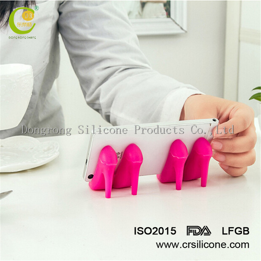High heeled shoes compatible silicone smart mobile <strong>phone</strong> stand