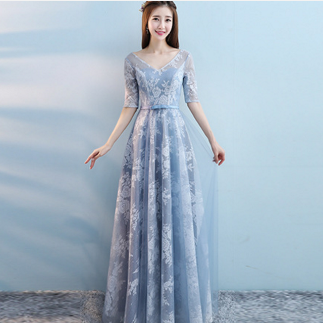 woman's elegant long dress bridesmaid dress for wedding ,party 2018
