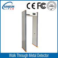Economic easy operate walk through metal detector