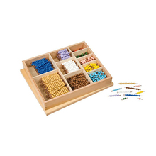 Preschool Storage Box Wooden Beads Educational Toys Montessori Materials For Sale