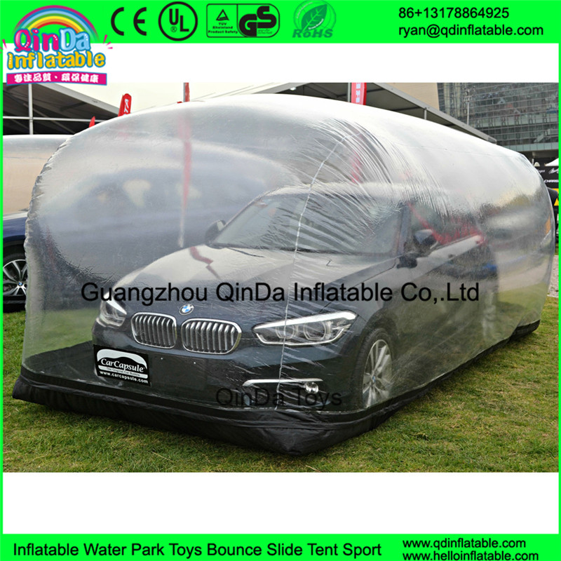 Transparent car cover tent model show advertising capsule tent inflatable hail proof car cover tent for car wash
