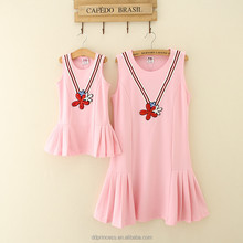 summer women casual one piece dress pink picture of children casual dress