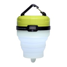 Super Bright Collapsible LED Camping Lantern - Candle and Colorful Tent Light with 3 AAA Batteries