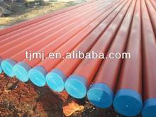 fire fighting red painted steel pipe for fire control