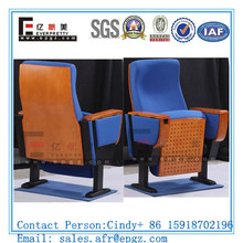 Floor Mounted Movable Auditorium Chair For Low Floor Seating