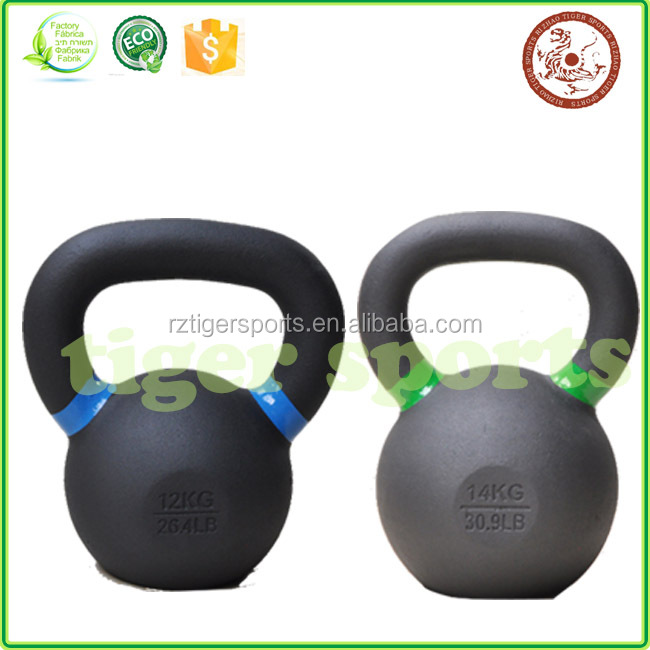 Kettlebell Tiger Sports Partial Set | Powder Coat Kettlebell | Designed for Crossfit Style, Strength Training & Hiit Workouts