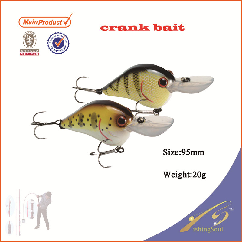 CKL020 new fishing tackle small hard plastic crank bait fishing lure