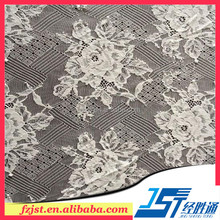 Dubai dry wedding lace fabric for long sleeve lace evening gown