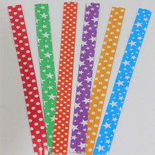 Decorative printed kraft paper twist ties for gifts bags/sugar