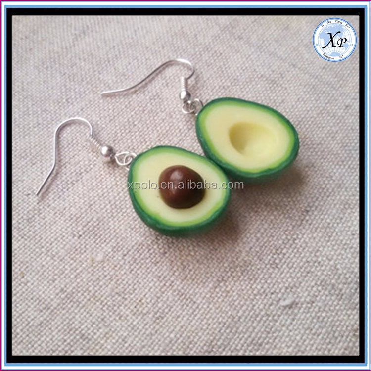 2017 hot new products wholesale avocado charm separate bff jewelry necklace