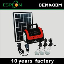 china suppliers new products 5W solar panel 4ah battery portable small solar energy lighting system