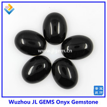 wholesale high Quality natural black Onyx Gemstone , oval cabochon black agate stone