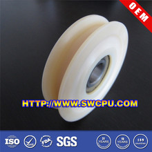 Customized sliding door nylon pulley wheels sheave with small bearings