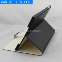 for ipad 6 leather case, double side be used, with strong magnet pu leather case