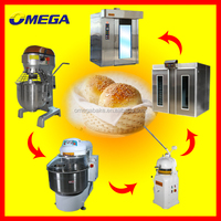 OMEGA Bakery Equipment/ Bread Production Line Electric/Gas/Diesel Rotary Rack Oven (Manufacturer CE &ISO9001)