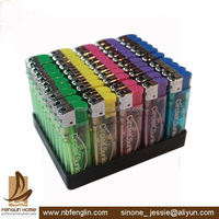 China Transparent Electronic Lighters Smoking Accessories