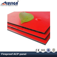 Alusign aluminum core fire resistance wall panel fireproof aluminum composite panel