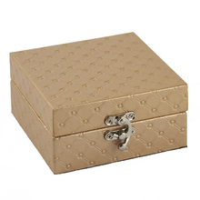 European square miniature bracelet jewelry box wood jewelry