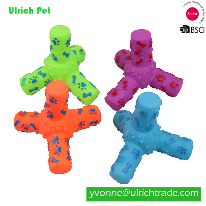 WR039 Hot sale eco-freindly rubber pet toy for dog spiral design