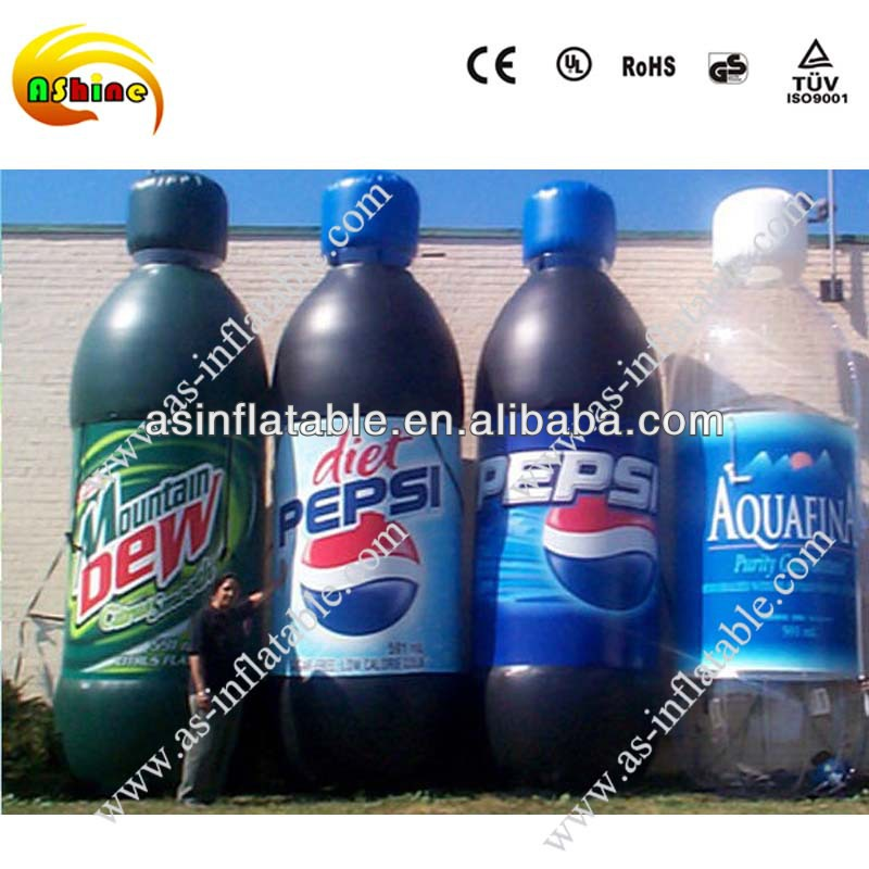 Custom made inflatable coke bottle with good quality