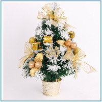 Mini crystal christmas tree small oil plastic XMAS tree stand christmas decorations for home christmas ornaments 2017