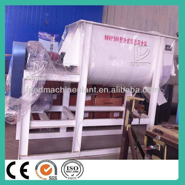 Twin ribbon feed mixer in agriculture, poultry feed mixer machine
