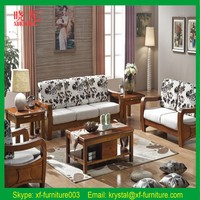 2016 Living room sofa furniture wooden sofa set design