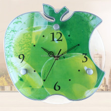 Photo clock apple shape special wall clock