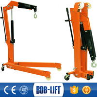 Knuckle Boom Rubber Wheel Small Portable Shop Crane Sale